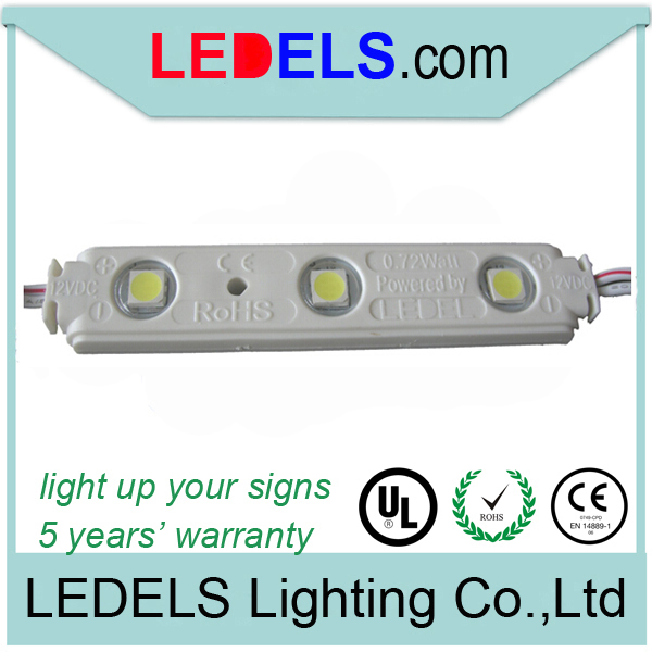 1000pcs/lot,3 years warranty,0.72w epistar 5050 led module 5050 for channel letter signage lighting
