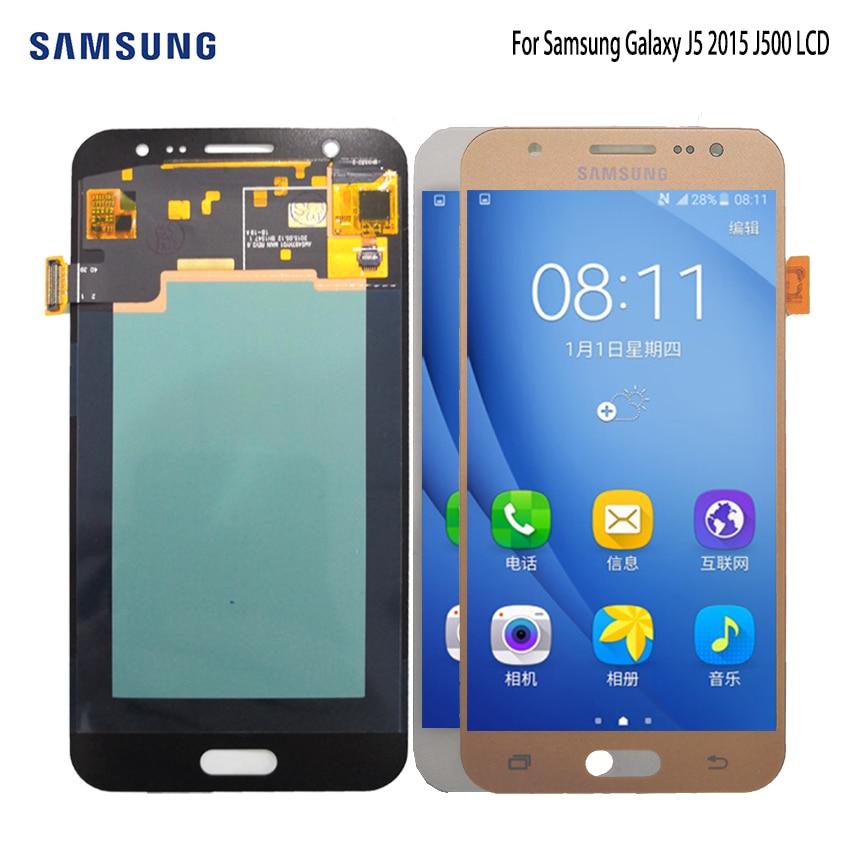 AMOLED pour SAMSUNG Galaxy J5 2015 J500 écran tactile LCD J500H J500FN J500F J500M écran SM-J500F LCD numériseur