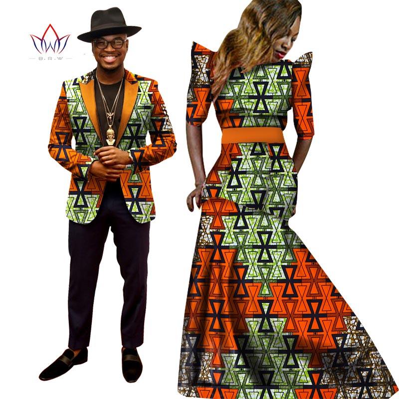 Afrička haljina za žene Afrička haljina Bazin Riche Žene Maxi haljina Muška jakna Slim Fit jakna Muška Ležerne prilike Plus veličina 6XL WYQ04
