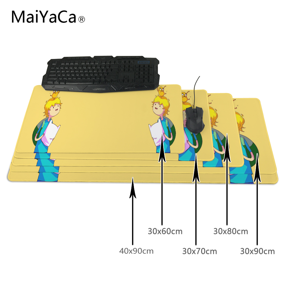 MaiYaCa Best Choice Exclusive Customization 300x900mm Adventure Time Extended Gaming Wide Large Mouse Pad Big Size Desk Mat