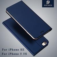 For IPhone Se Case Dux Ducis Leather Flip Case For IPhone 5s Case Wallet Phone Cover