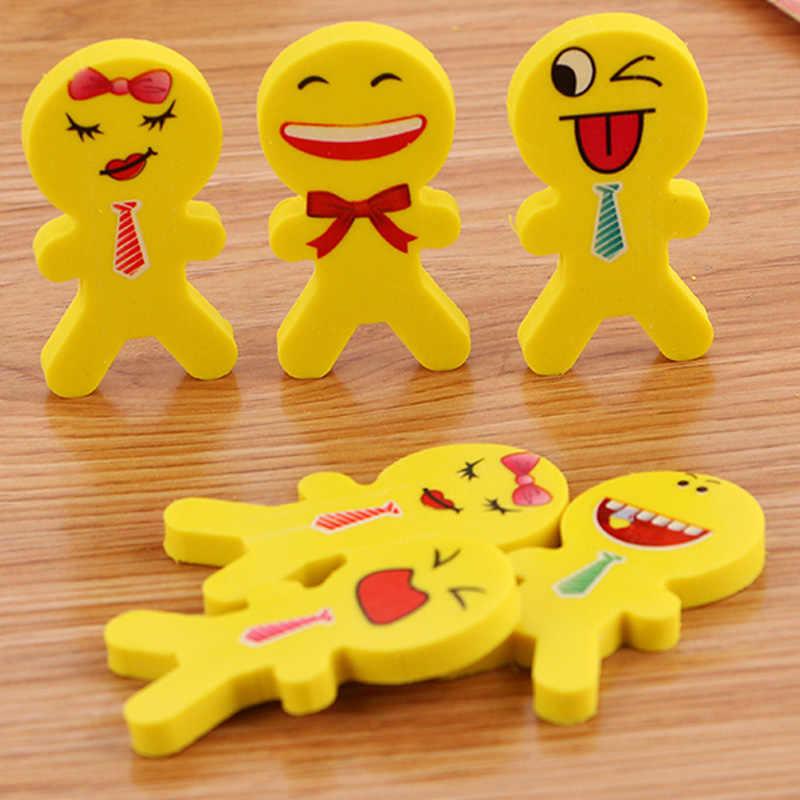 Kreatywny Kawaii uśmiech gumki ołówek śliczne Cartoon Smile szkoła gumy do rysowania dla dzieci koreański papiernicze artykuły biurowe