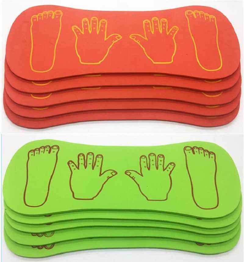 Оборудование для занятий спортом на открытом воздухе пенопластовое оборудование для сотрудничества рук и ног игрушки для спортивных игр для детей подарок 4 шт./компл.