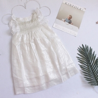2017 New Summer Solid Baby Girl Dress Silver Dress TUTU Party Petticoat Infant Party Smocking Girl