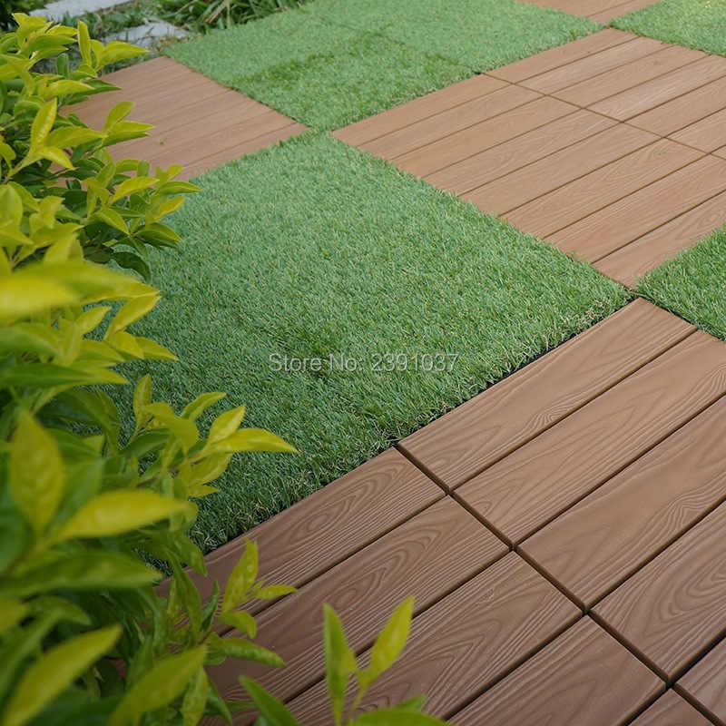 New Decorative Artificial Gr Turf Floor Tiles Decking Material Outdoor Patio Garden Design