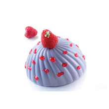 Steamed Bun Shaped Silicone 6 Cavities Cake Mold Mousse Bread Chiffon Dessert Baking Mould Bakeware Making Tool