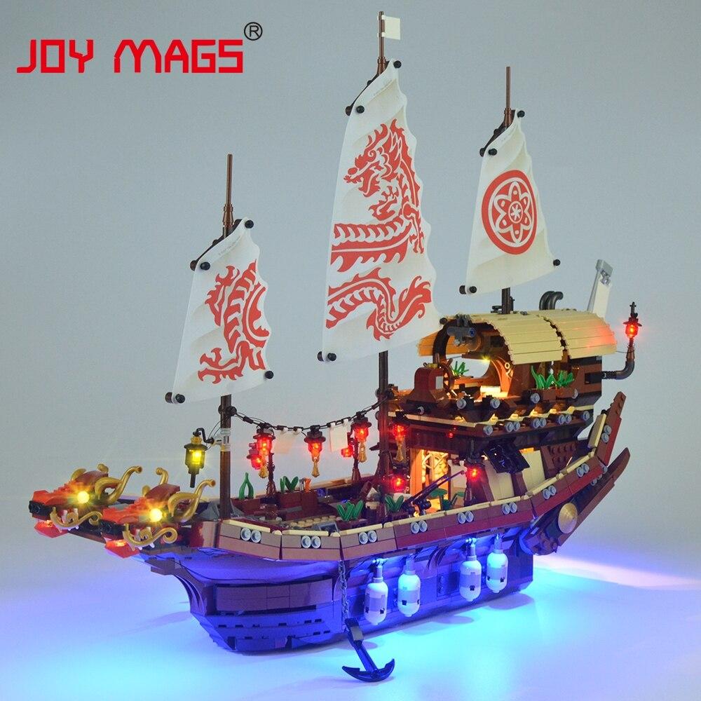 Radość MAGS zestaw oświetlenia LED (tylko światło zestaw) dla Ninja świątynia Airjitzu zestaw światła kompatybilny z 70618 (nie zawiera modelu) w Klocki od Zabawki i hobby na  Grupa 1