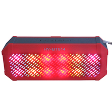 Portable Colorful Light Bluetooth Speaker Wireless Stereo Loudspeakers Super Bass with Radio Hand Free for Mobile Phone/Mp3