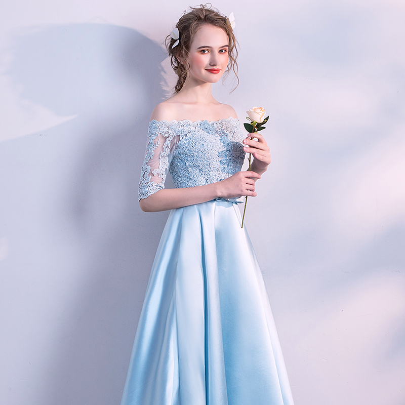 6e20bbca7406c CEEWHY Off Shoulder Lace Satin Dress Long Evening Dress 2018 Mother of the  Bride Dresses Vestido Longo Robe Longue Evening Gown
