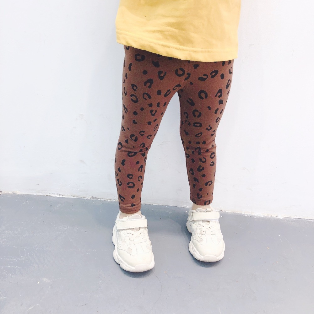2019 Spring Baby Girls Leggings Print Leopard Children Kids Cotton Pants Girls High Quality  Leggings 2T-6T