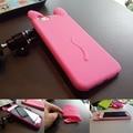 Красочные 3d-мягких новый коко кот симпатичные микки маус силиконовые уха телефон крышка чехол для iphone 6 6 S бесплатная доставка