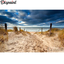 Dispaint Full Square/Round Drill 5D DIY Diamond Painting Beach sea scenery Embroidery Cross Stitch Home Decor A10390
