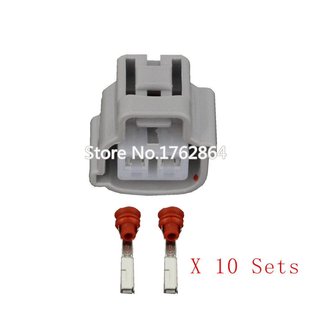 10 Pcs Automotive Waterproof Connector With Wiring Terminal Block Dj70216y 22 21 2p In Connectors From Lights Lighting On