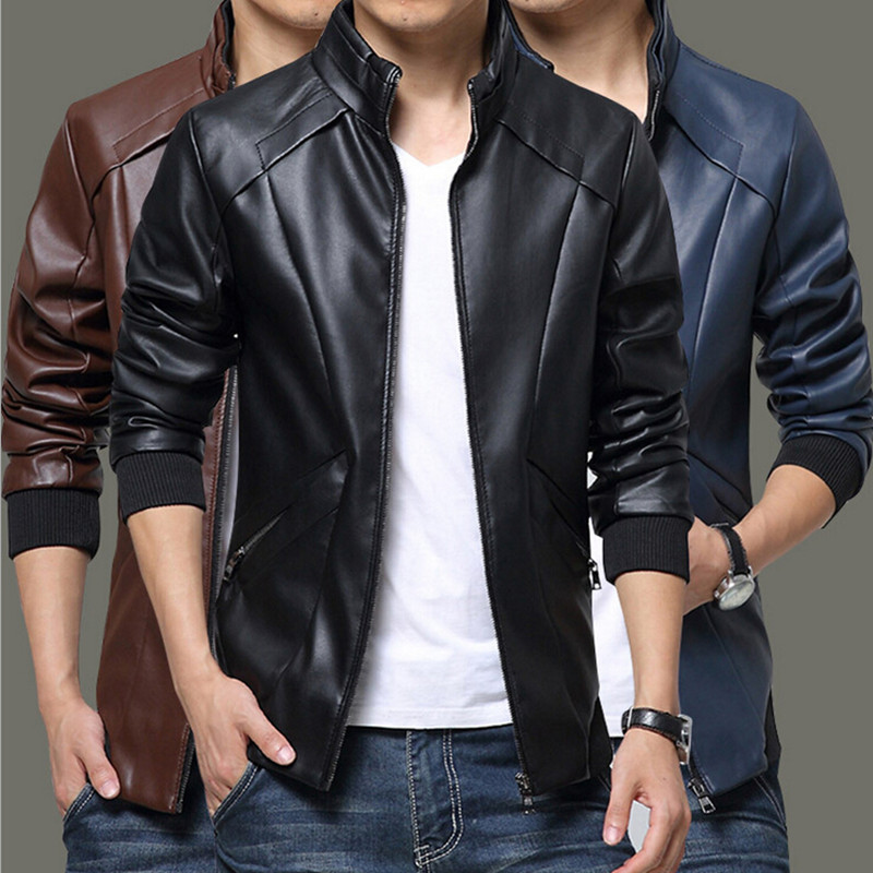Aliexpress.com : Buy Business Casual Leather Jacket Fashion Slim ...
