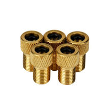 5pcs Bicycle Valve Adaptor Converter alloy Bike Tire Tube Pump Bicycle Valve Cap Cover Bike Accessories #4S13 HS(China)