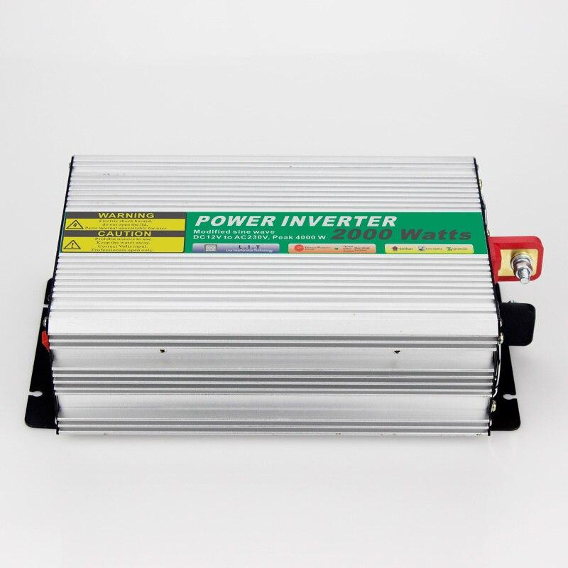 MAYLAR@ 12VDC 2000W Modified Sine Wave AC 110V or 220V  Car Power Inverter Converter Power Solar inverters Off grid tie system maylar 1000w solar grid tie inverter with limiter dc45 90v to 110v or 230v ac mppt pure sine wave power inverter