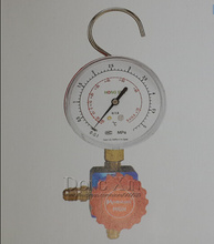 R410 HS-468A high pressure air- conditioning refrigerant grade single table valve pressure gauge Diagnostic dosing tool hvac 1 way manifold gauge hs 470a r410 single gauge for r410 with 2pcs low pressure hose