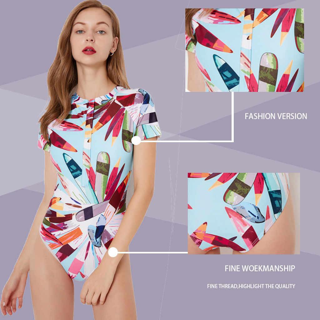 Perimedes Wanita Pakaian Selam Pantai Ruam Penjaga Baju Renang Set UV Perlindungan Berselancar Renang Air Swimsuit # G50