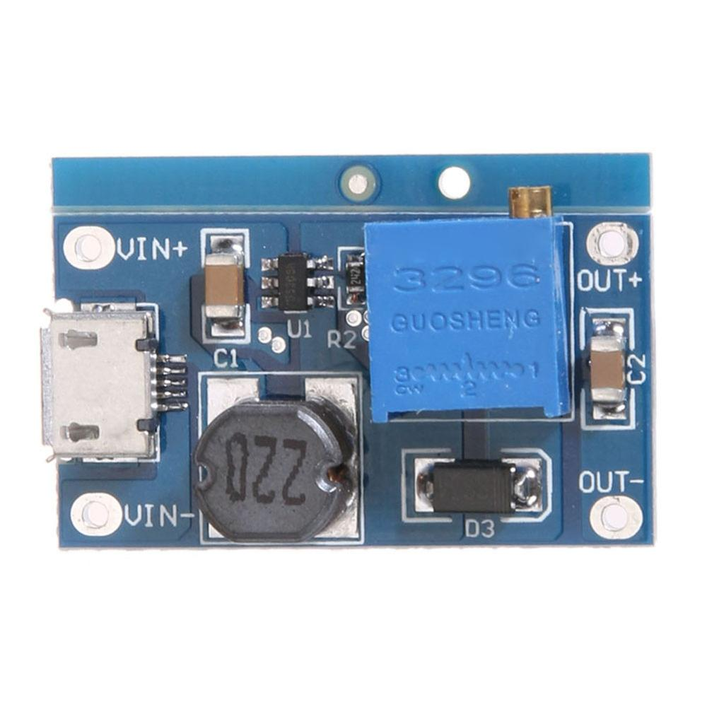 DC-DC 2V-24V Voltage To 5-26V 2A  Boost Plate Max Step Up Module Booster Converter Adjustable Boost Module With Work Indicator