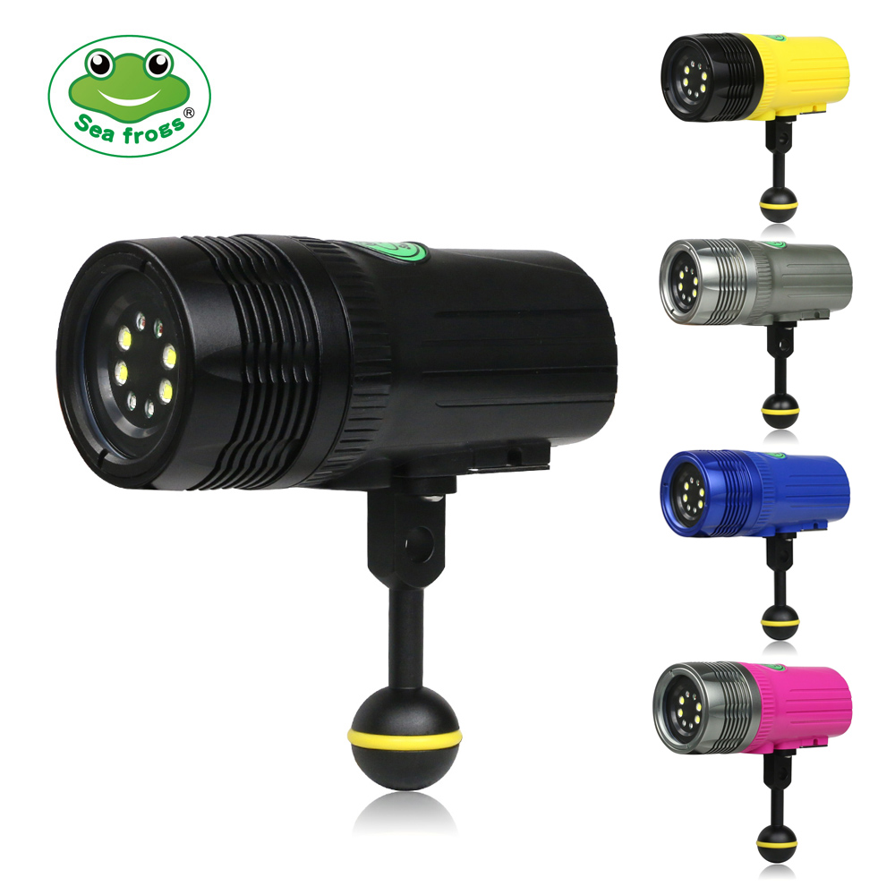Écran LED Plongée lampe de Poche 2500 LM Sous-Marine 100 m Photographie Rechargeable Torche Rouge Violet Lumière Fine Tournant Luminosité