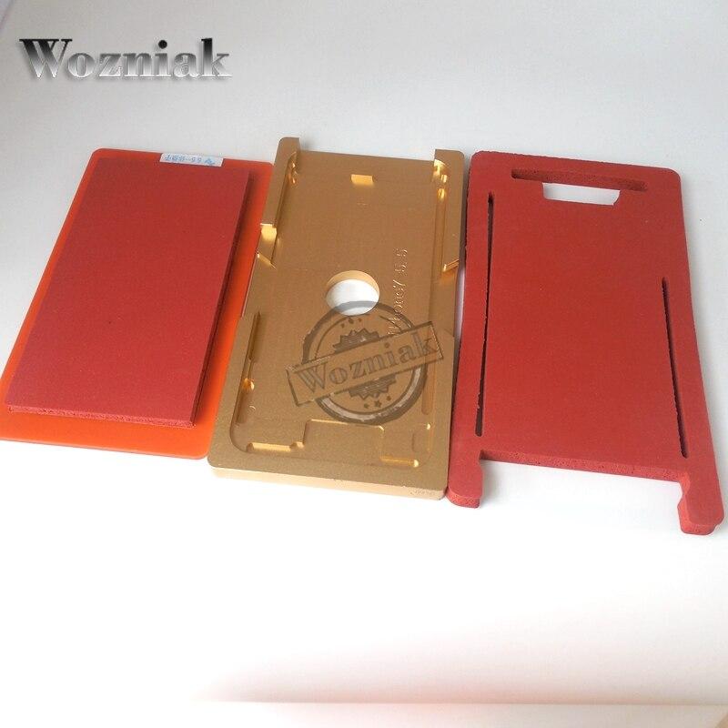 imágenes para Wozniak para iphone 7/7 plus de vidrio con marco de aluminio de precisión de moldes molde para oca máquina de laminación