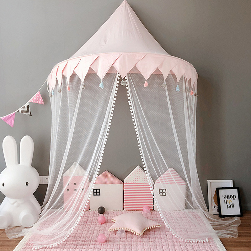 Foldable Kids Play Tents u0026 Teepees Girls Princess Castle Baby Canopy Bed Curtains Play House For Children Infant Toddler Bedroom & Foldable Kids Play Tents u0026 Teepees Girls Princess Castle Baby Canopy ...
