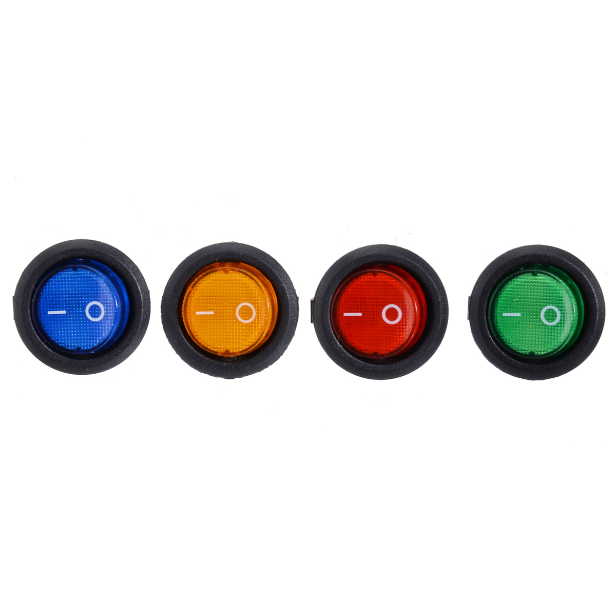 4pcs/set LED 12V 16A Car Boat ON/OFF LED Round Dot Rocker Toggle Switch SPST Switch 4 Colors Red/ Blue/ Green/ Yellow-in Car Switches & Relays from Automobiles & Motorcycles