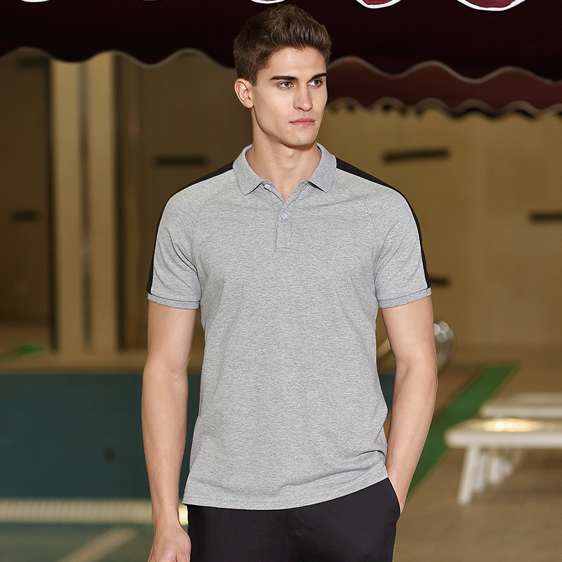 d5db9465a0 ... pioneros nuevo diseño de la camisa de polo de los hombres de la marca  ropa casual simple Polo de manga corta de hombre de calidad superior 100%  algodón ...