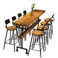 Промышленный стиль  Ретро Барный столик  кофейня  твердая древесина  высокие барные столы