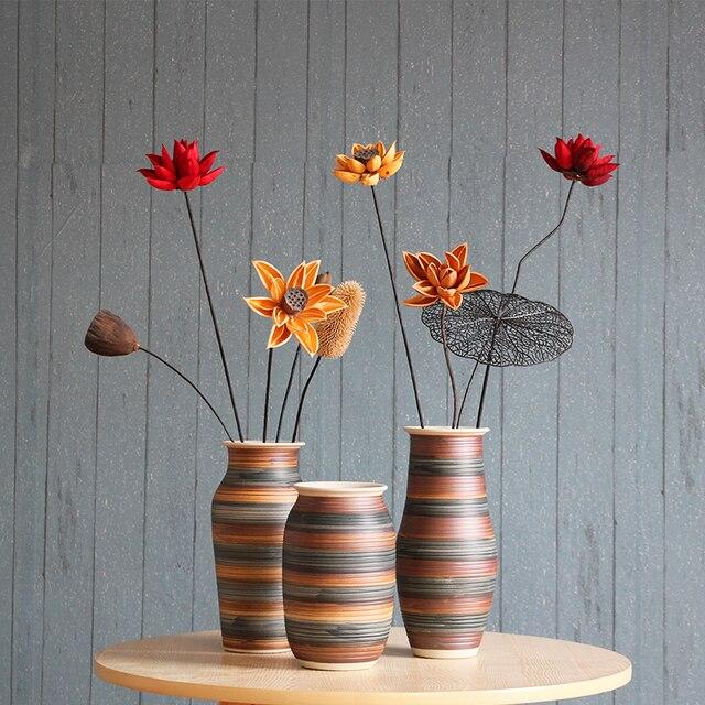 Manual Flower Arrangement Vase Ceramics Living Room Tv Table