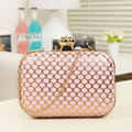 Free shipping New 2016 Women's Polka Dot fashion clutch evening bag banquet bag / girl cute chain shoulder bag nessenger bag