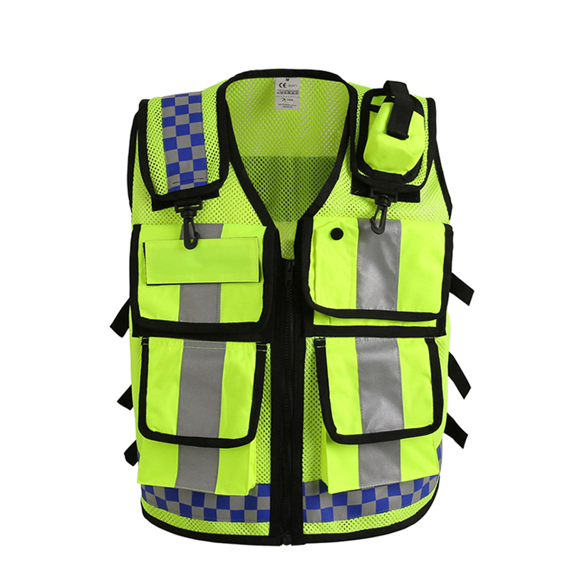 Motorcycle Cycling Reflective Vest Cloth Safety High Visible Jacket Traffic Police