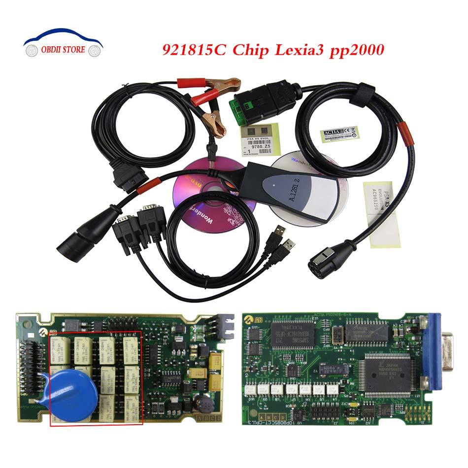 Best Lexia 3 PP2000 Diagbox V7 65 Full Chip Lexia3 Firmware 921815C OBD 2 Car Diagnostic
