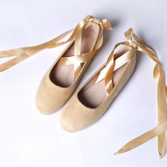 7cf0095312 Fashion Women Ballerina Flats Women Flats Ankle Strap Casual ladies Ribbon  Loafers Shoes Sizes 35-43. Free shipping
