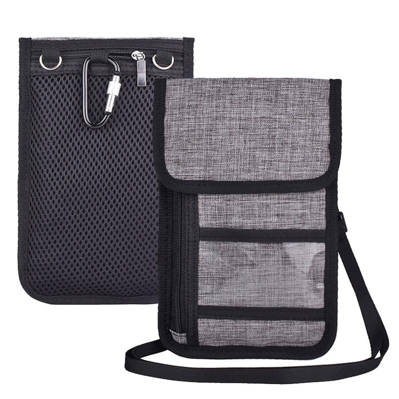 RFID Blocking Travel Phone Neck Pouch Passport Holder Wallet Shoulder Belt Messenger Bag Crossbody Bags 586