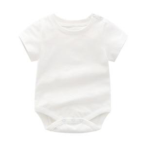 Image 2 - 코 튼 어머니 아기 여름 옷 2 pcs romper + 바지 어린이 아기 outwear 파티 의류 키즈 세트