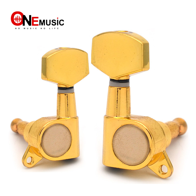 gold left and right hand guitar tuning pegs key tuners machine head for electric guitar in. Black Bedroom Furniture Sets. Home Design Ideas