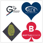 Personalized Collection, Round / Squre/ LoveHeart Gift Label Stickers, Custom Made Any Name Your Text or Logo Here, 30MM 500pcs