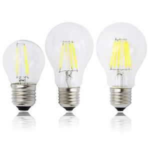 Image 1 - A60 G45 винтажная приглушаемая Светодиодная лампа накаливания E27 COB лампы 2/4/6/8 нити 220 в 230 В лампа 10 Вт 15 Вт 20 Вт 25 Вт