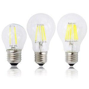 Image 1 - A60 G45 Vintage Dimmable LED Filament Light Bulb E27 COB Bulbs 2/4/6/8 Filaments 220V 230V Lampada 10W 15W 20W 25W
