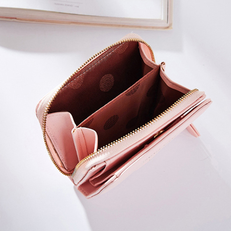 CA Mini Women/'s Heart Wallet Card Holder Clutch Coin Purse Leather Handbag Purse