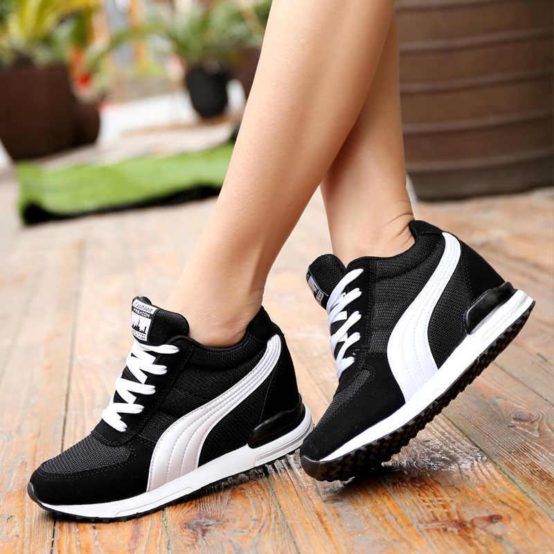 VTOTA hauteur augmentant baskets femmes 2018 plate-forme chaussures à semelles compensées dames formateurs chaussures femme blanc grosse baskets bambas mujer