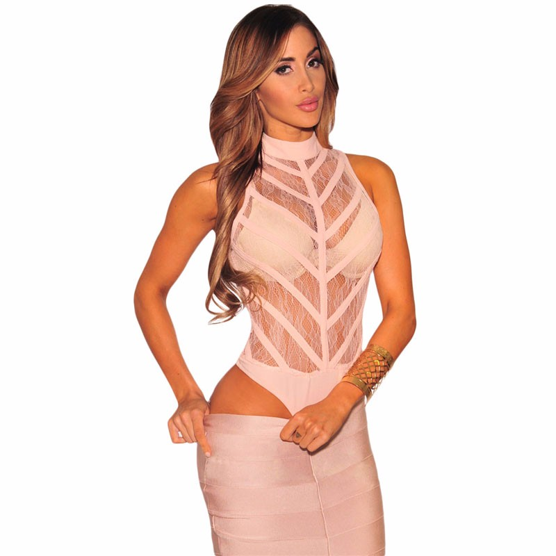 Pink-Sheer-Lace-Striped-Bodysuit-LC32080-10-1