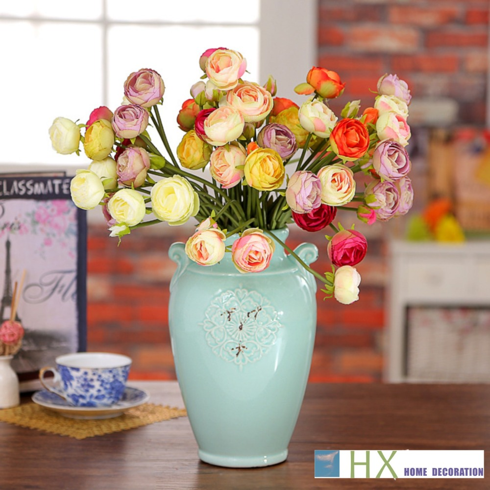 2015 New(10 pcs/lot)Artificial flowers,small spring thousand rose bunch,Lovely and Sweet gift,home decoration,wedding decoration