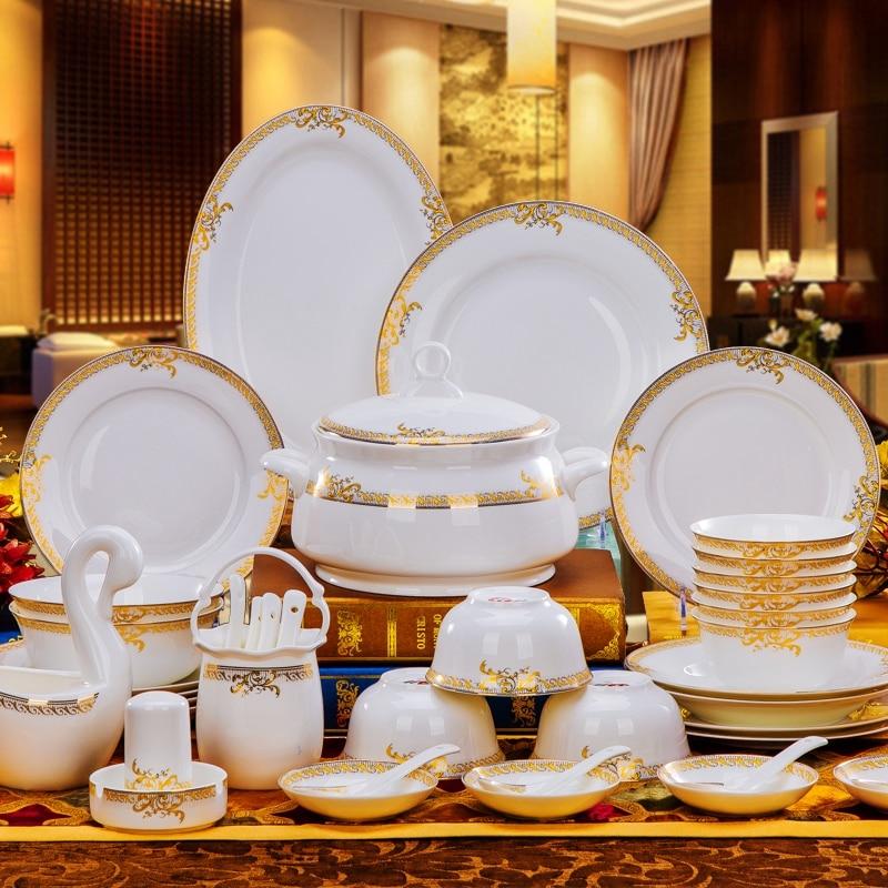 buy top quality ceramic tableware set 56pcs bowl dishes suit porcelain. Black Bedroom Furniture Sets. Home Design Ideas