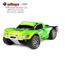WLtoys a969 RC автомобиль 4WD 1:18 Весы 2.4 г высокое Скорость Радио Управление водить автомобиль Дистанционное управление гонки по пересеченной местности автомобиль mini автомобильной