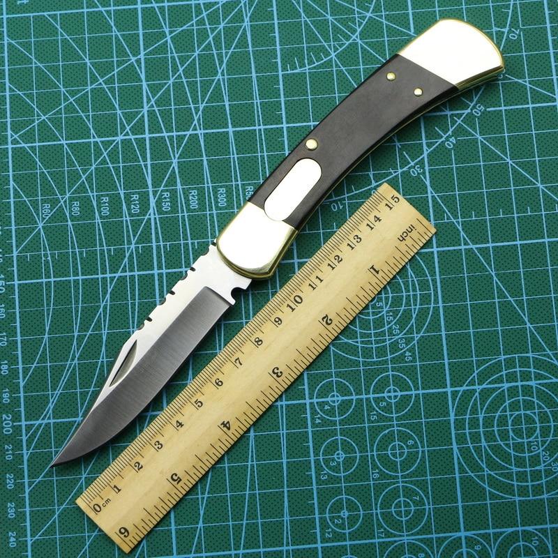 LOVOCOO B U C K 110 brass wooden handle 440C blade folding fruit knife hunting pocket