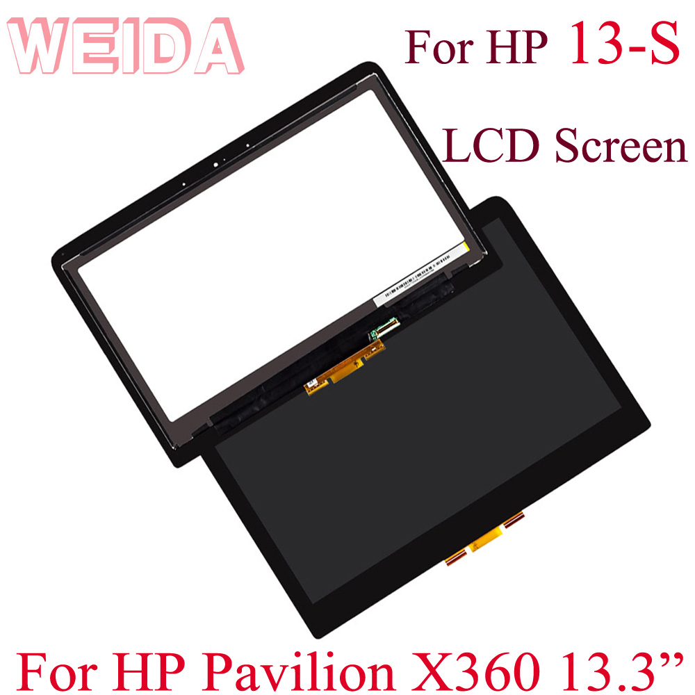 WEIDA Touch Digitizer Replacement For HP Pavilion X360 13S  13-S Series Touch Screen 13.3 Inch 13-s056nw 13-s003na