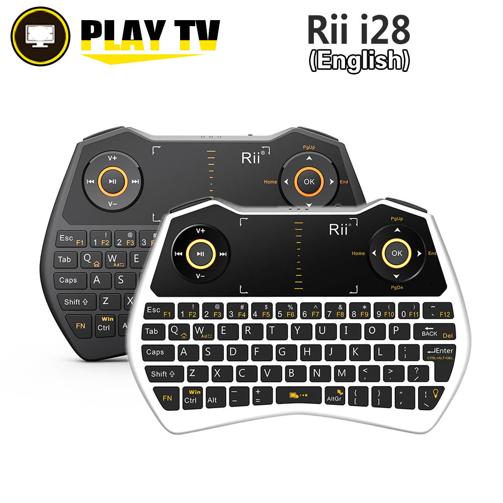 [Genuine] Rii i8+ 2.4G Wireless Russian Ver i8 with Backlight Mini Keyboard Air Mouse Touchpad for Android TV BOX Tablet Mini PC