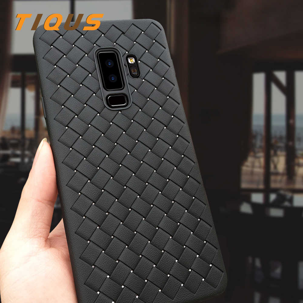 TIQUS Case For Samsung Galaxy S8 Edge S9 Plus Note 8 J2 J3 J5 J7 A5 A7 2016 2017 Prime 2018 Grid Weaving TPU Phone Cover Case